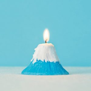mt fuji japanese candle miniature